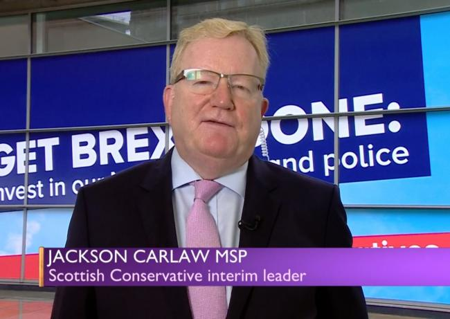 Scottish Tory interim leader Jackson Carlaw has made a 'blunder' according to the FM