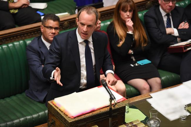 Dominic Raab stood in the for the Prime Minister