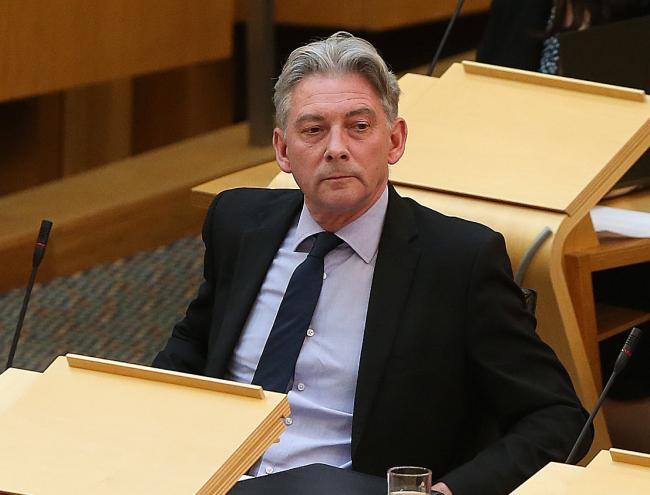 Scottish Labour leader Richard Leonard asked about about mental health services in a quiet, dignified way