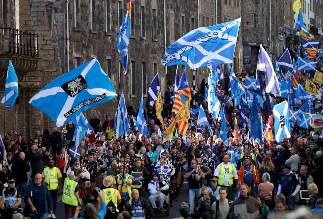 An estimated 100,000 people marched through the capital in last year's Edinburgh event