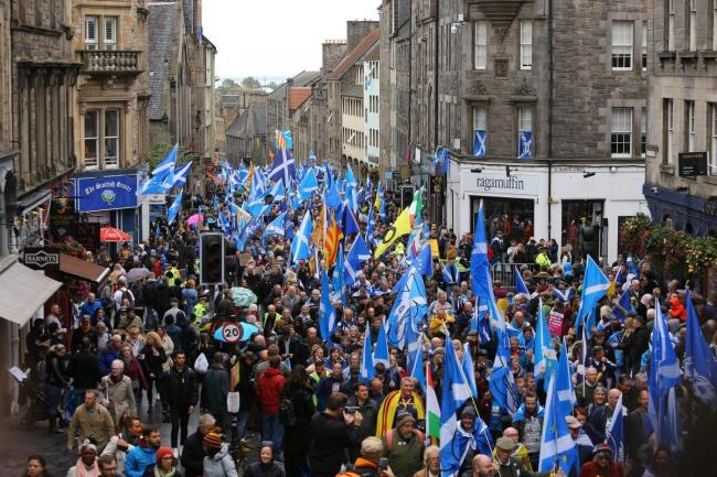 AUOB has organised marches and rallies for independence across Scotland