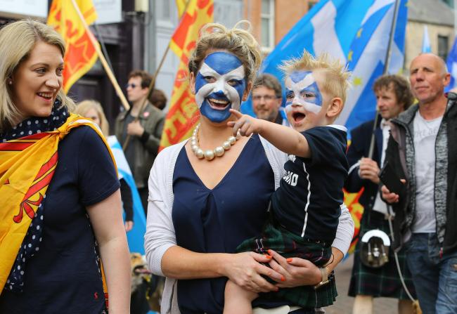 Women and young people are leading a surge in support for independence. Photograph: Colin Mearns
