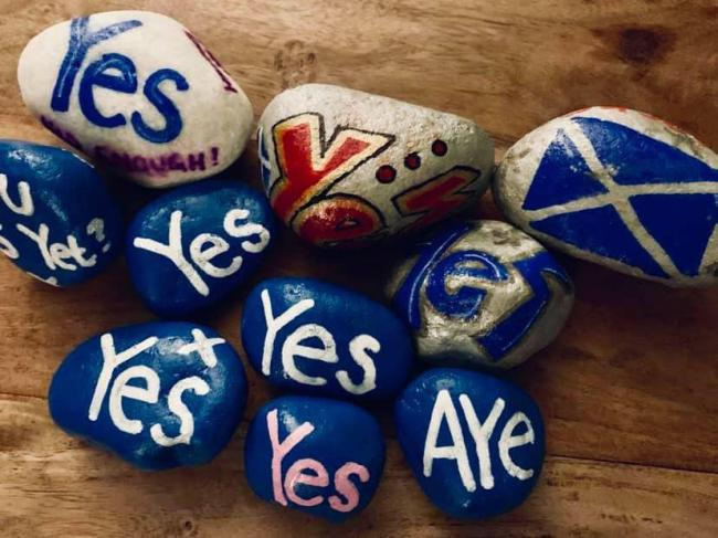 The Yes Stones Facebook group is co-ordinating the effort to place tens of thousands of Yes stones across the country