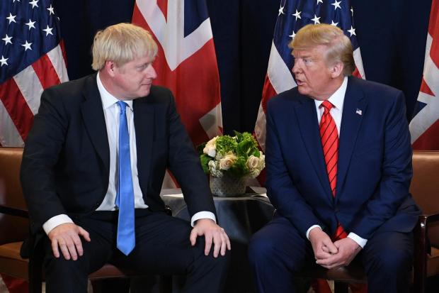 The National: Boris Johnson and Donald Trump