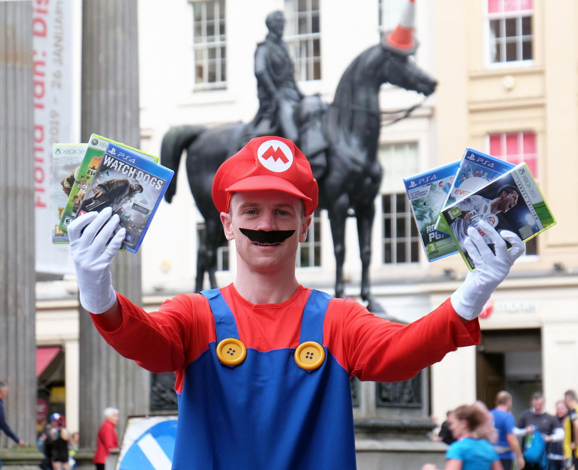 Super Mario in Scotland for first-ever Glasgow Gaming Market