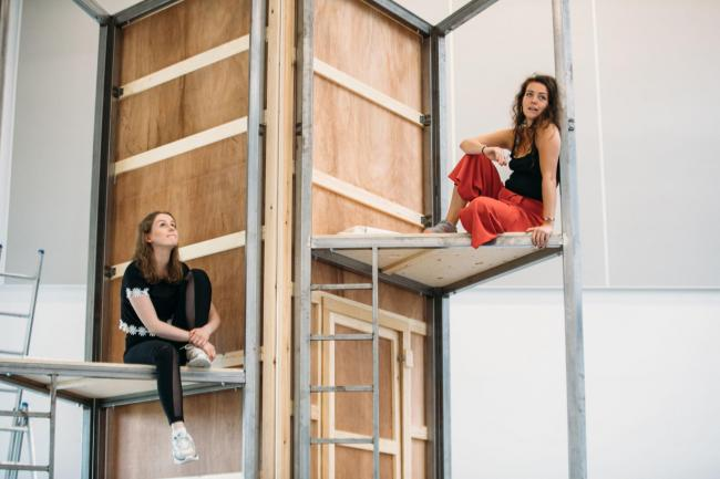 Anna Russell Martin, right, and Kay McAlistair in the new Traverse Theatre production. Photograph: Jassy Earl