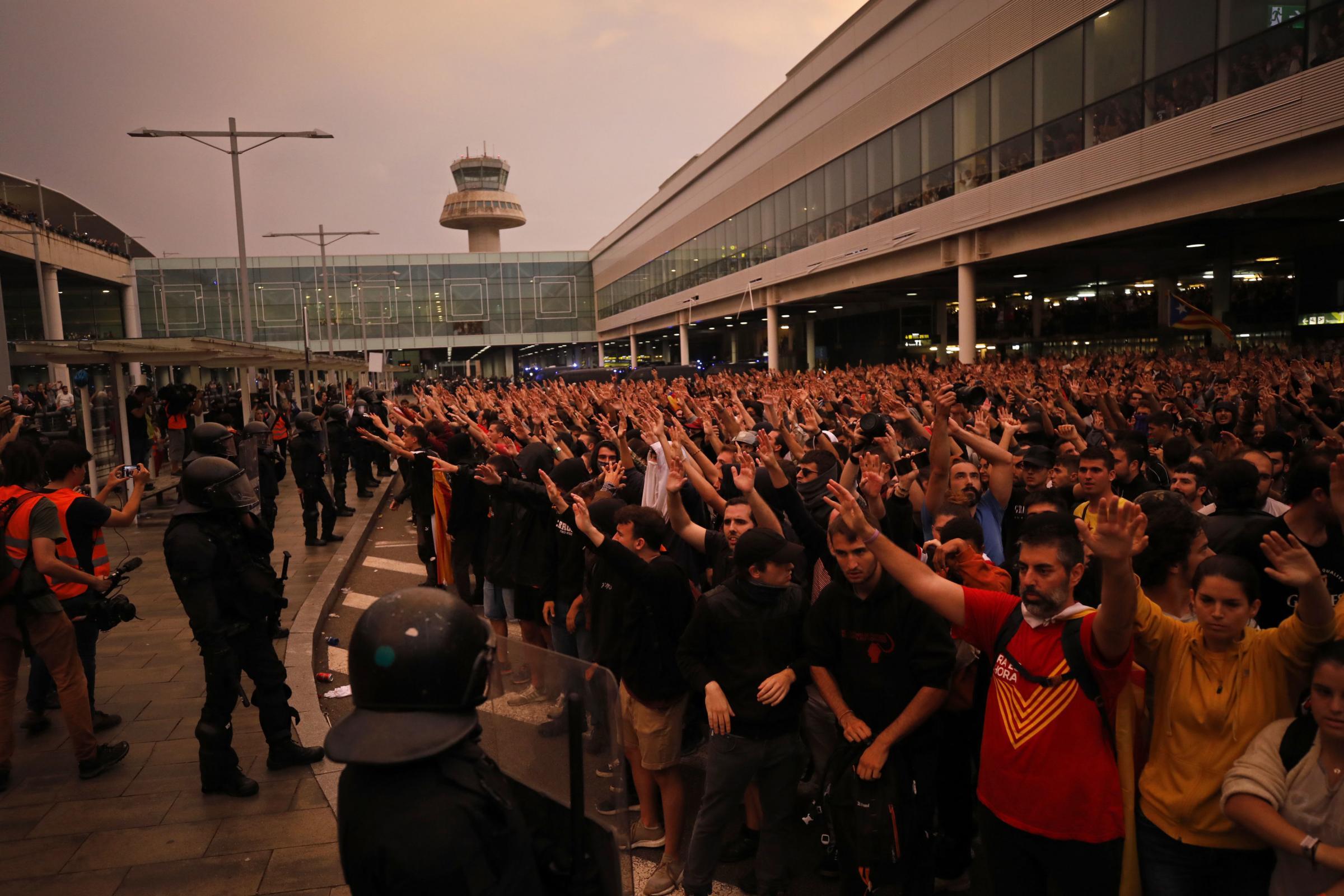 Catalans mount huge protests after independence leaders jailed
