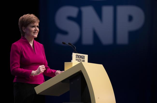 Nicola Sturgeon scored an approval rating of +5