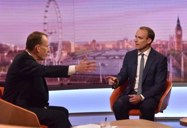 Dominic Rabb claimed that Scottish fishing rights will be a 'subject of negotiation' on the BBC's Andrew Marr Show