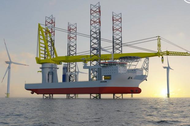 The Jan De Nul-owned Voltaire is the World's largest vessel of its kind. It will be used to install turbines at the World's largest wind farm
