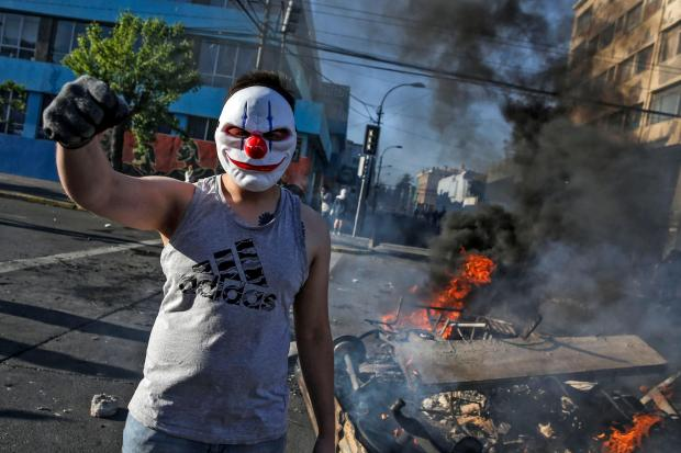 The National: A protester in Chile