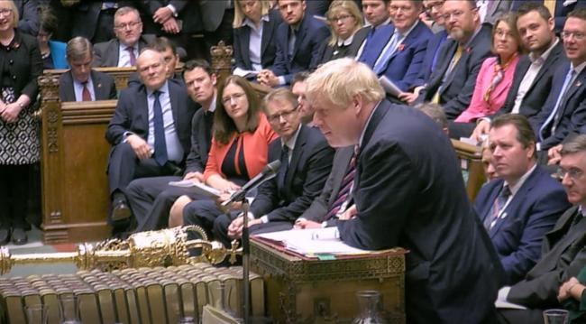 Boris Johnson made the threat during Prime Minister's Questions