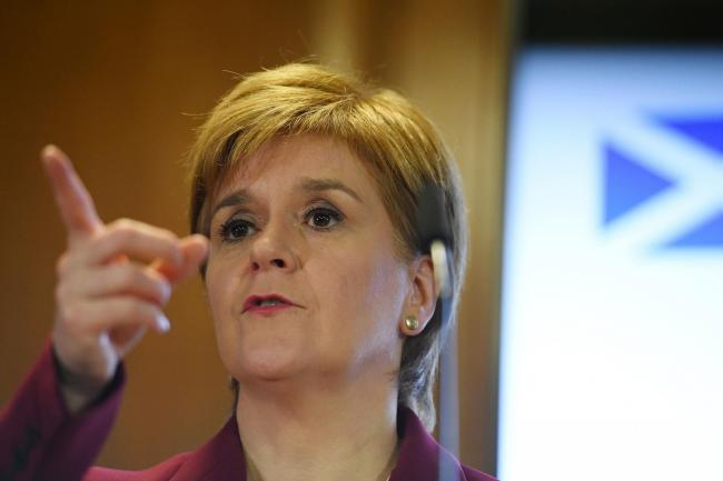 Nicola Sturgeon wrote a letter to Theresa May in 2017, but it was not a formal request