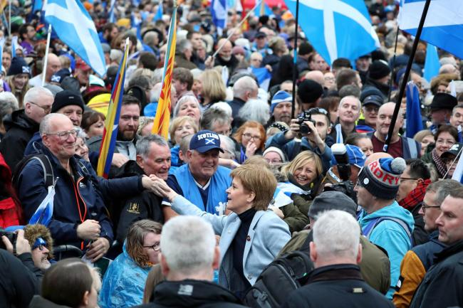 Nicola Sturgeon met with Yessers at the pro-independence event