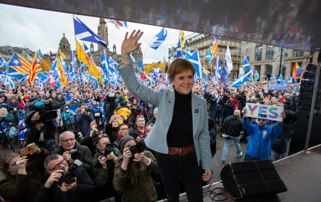 Nicola Sturgeon said she intends to hold a second independence referendum next year. Photograph: Colin Mearns