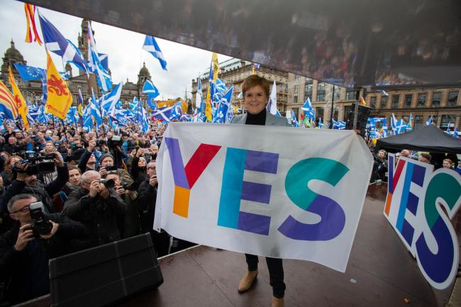 Nicola Sturgeon addressed 20,000 independence supporters at The National's rally. Photograph: Colin Mearns