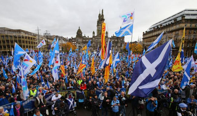 Tens of thousands descended on George Square at The National's rally for Indyref2020, and in the crowd the politicians and the people came together to call for independence