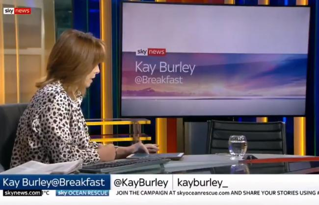 Sky News host Kay Burley was supposed to be interviewing the Conservative Party chairman