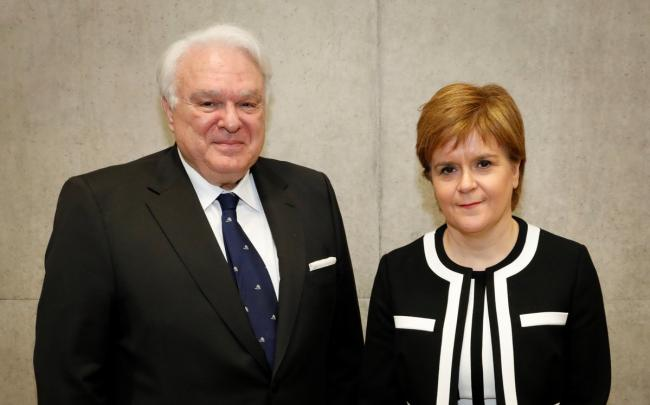 Miguel Angel Vecino, with Nicola Sturgeon, was dismissed as consul general to Scotland