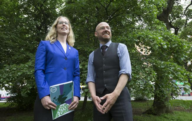 Scottish Greens  co-leaders Lorna Slater and Patrick Harvie will today launch their election campaign