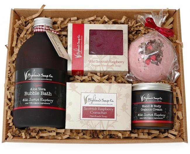 Wild Scottish Raspberry Gift Tray, £38.50, Highland Soap Company
