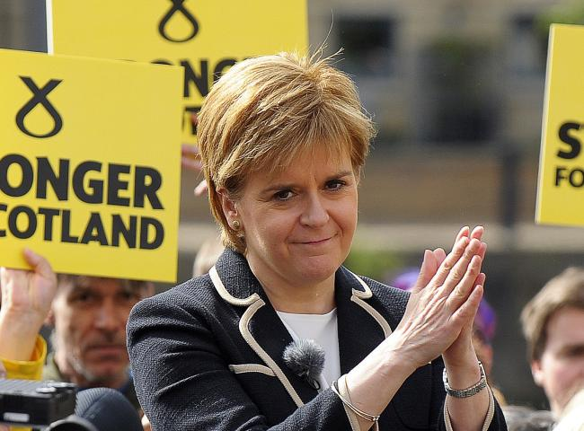 Nicola Sturgeon's party is predicted to win 50 seats