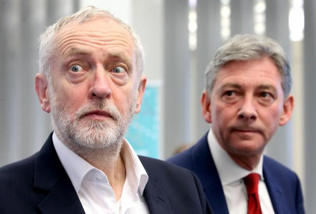 Scottish and UK Labour leaders Jeremy Corbyn and Richard Leonard haven't got the party's campaign off to a good start Photograph: Jane Barlow/PA