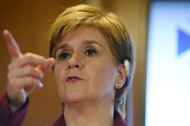 Nicola Sturgeon called out Jackson Carlaw's shifting position on Brexit and called the Tory campaign embarrasing