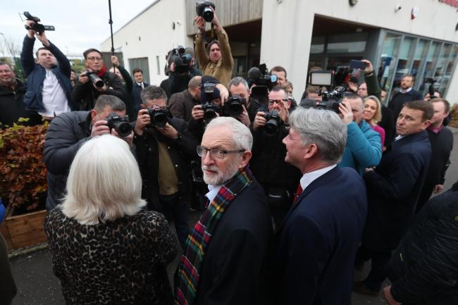 Jeremy Corbyn campaigning in Scotland