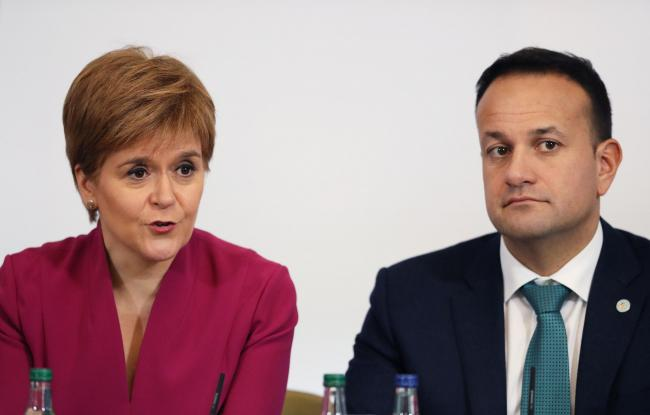 Nicola Sturgeon underlined her commitment to indyref2 as she met with UK and Irish leaders in Dublin