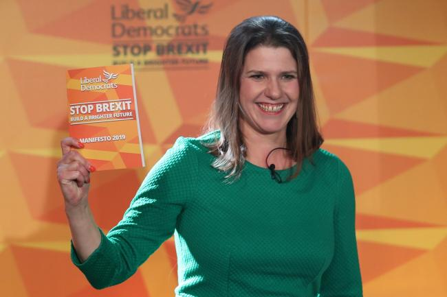 LibDem leader Jo Swinson maintains her enthusiasm for becoming PM despite her chances slimming rapidly