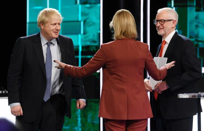 Boris Johnson, left, and Jeremy Corbyn went head-to-head during the ITV debate