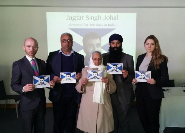 The National: Jaggi's family with their MP Martin Docherty-Hughes