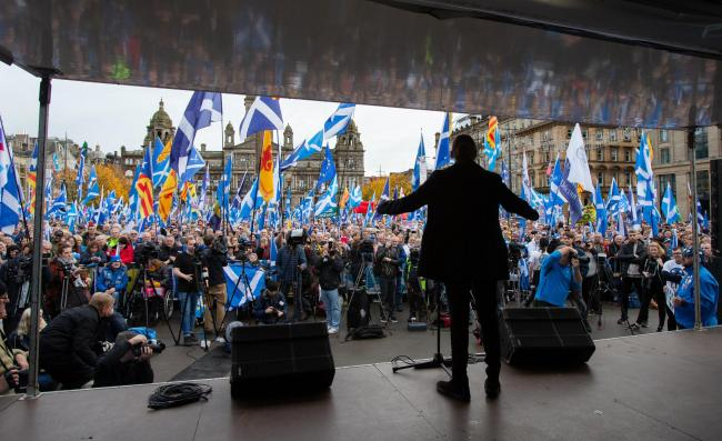 The November 2 rally in George Square organised by The National