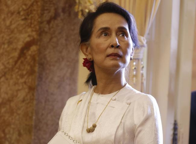 Aung San Suu Kyi is the National League for Democracy leader