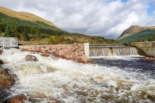 The Lochy hydro power station in Argyll