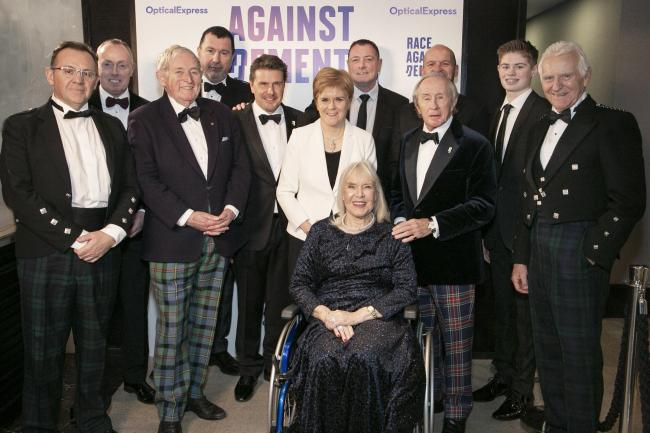 Rab Wilson, The First Minister and others attended a gala dinner with Jackie Stuart to launch his effort in fighting dementia