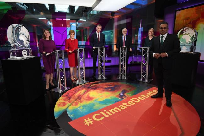 Ice sculptures stood in place of Boris Johnson and Nigel Farage at Channel 4's leaders' debate