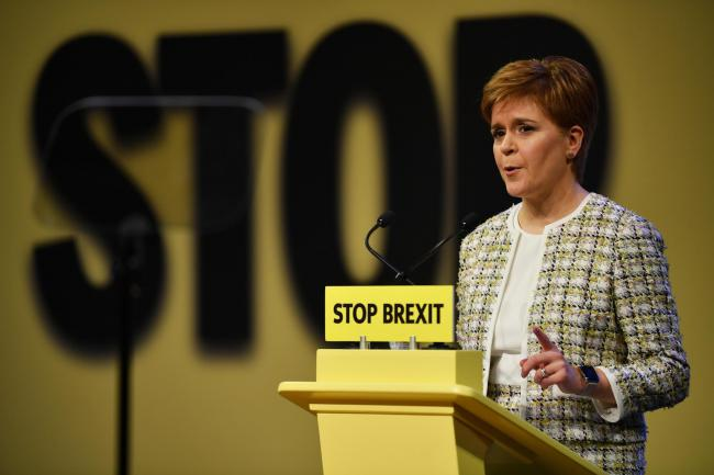 Nicola Sturgeon is expected to say that the PM is 'a real and present danger' to the health service