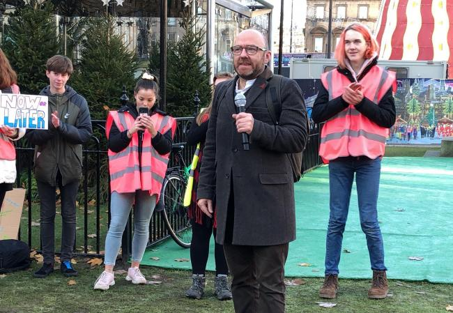 Scottish Greens co-leader Patrick Harvie criticised Boris Johnson's lack of commitment to solving the climate emergency