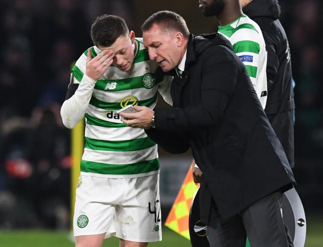Callum McGregor with former manager Brendan Rodgers