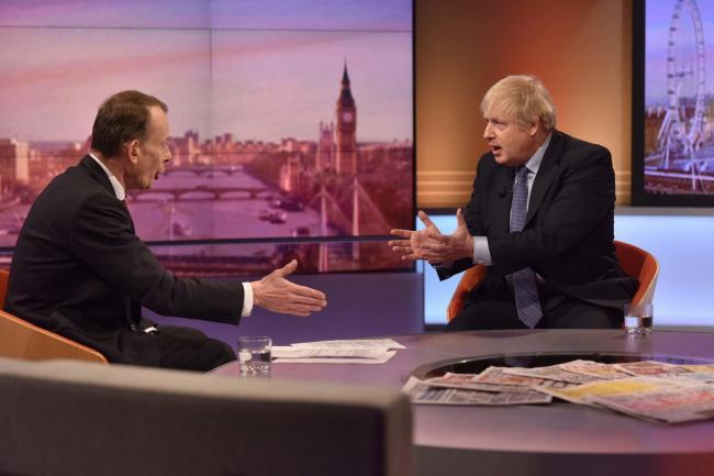Boris Johnson was interviewed on The Andrew Marr Show
