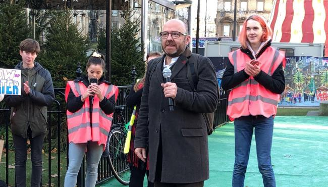 Scottish Greens co-leader Patrick Harvie is says Westminster is holding back Scotland's renewables potential