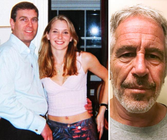 Prince Andrew, left, was accused of having sex with Virginia Giuffre who said she was trafficked by Jeffrey Epstein, right