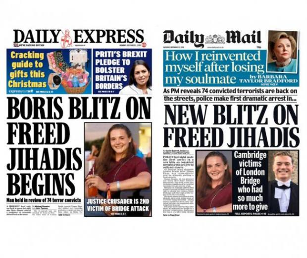 The National: David Merritt tweeted his anger at the Daily Mail and Daily Express for their front pages