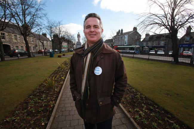 Colin Clark won his majority in a former LibDem stronghold and now the SNP are gaining on him