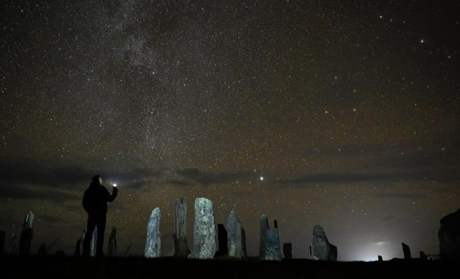 Scott Davidson's Callanish and the Cosmos won the Hebridean Dark Skies Festival photography competition