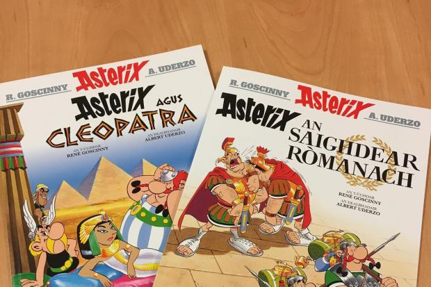 Asterix comics are just one of the books newly translated into Gaelic