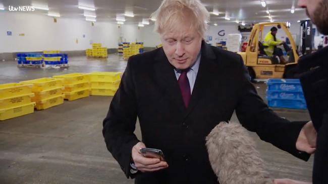 Boris Johnson grabbed the phone like a child putting his hands over his face to block out something bad