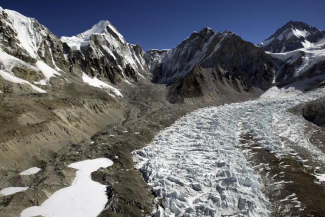 The Himalayan mountains and glaciers provide water for millions
